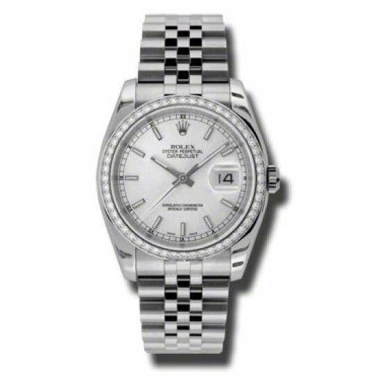 Rolex Datejust Silver/index Jubilee 116244