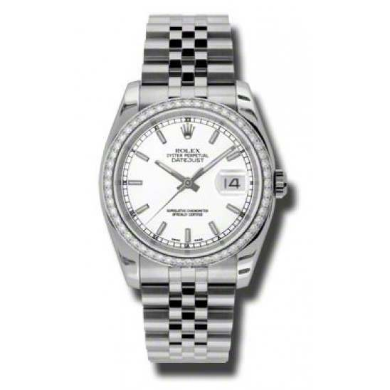 Rolex Datejust White/index Jubilee 116244