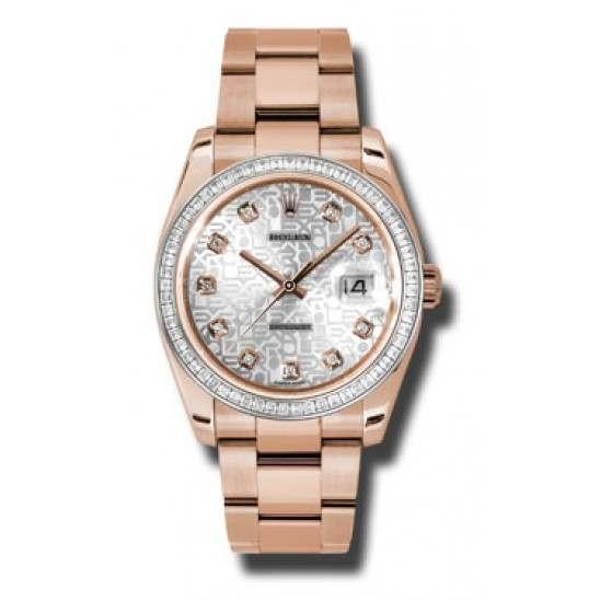 Rolex Datejust Silver Jub/diamond Oyster 116285 BBR