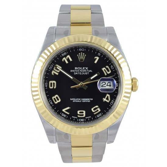 Rolex Datejust II Black Arab Oyster 116333