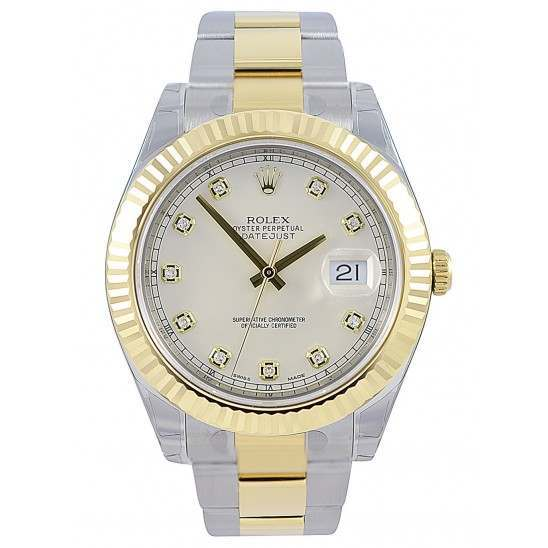 Rolex Datejust 41 Ivory/Diamond Oyster 116333