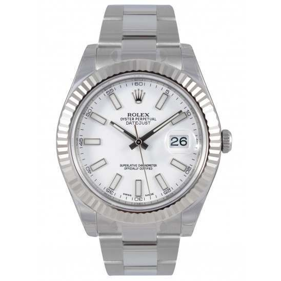 Rolex Datejust II White/index Oyster 116334