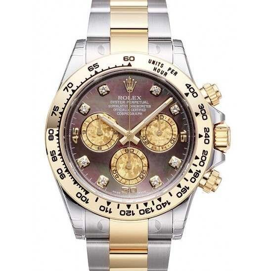 Rolex Cosmograph Daytona Black MOP/8 Diamond 116503