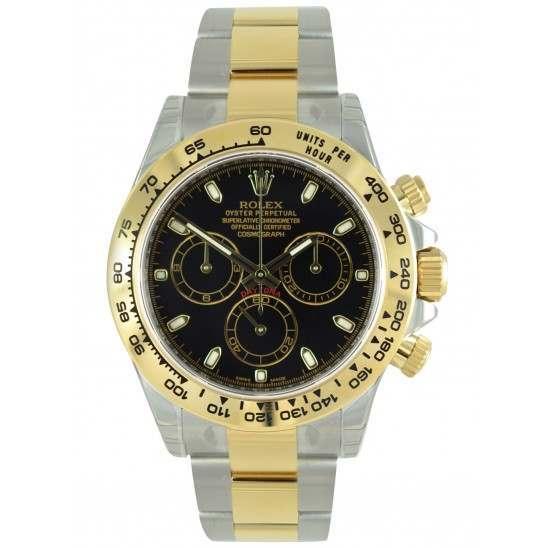 Rolex Cosmograph Daytona Steel & Gold Black/index 116503