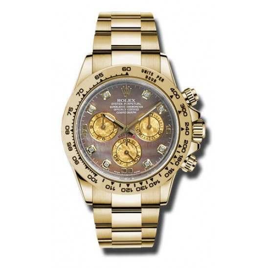 Rolex Cosmograph Daytona Gold Crystals/8 Diamond 2016 116508