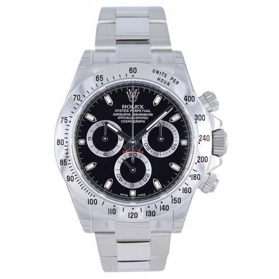 Rolex Cosmograph Daytona Stainless Steel Black/index 116520