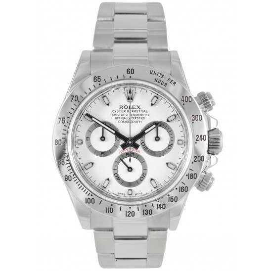 Rolex Cosmograph Daytona Steel White Dial 116520
