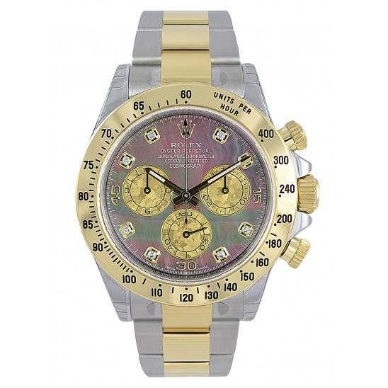 Rolex Cosmograph Daytona Gold Crystals/8 Diamond 116523