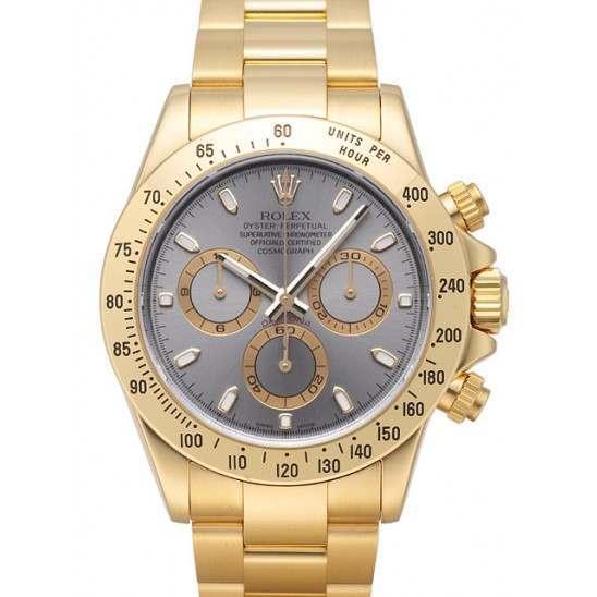 Rolex Cosmograph Daytona 18ct Yellow Gold Steel Dial 116528