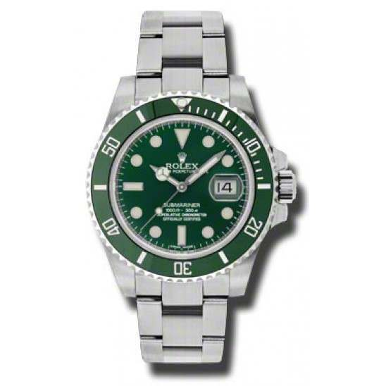 As New Rolex Submariner Green (Hulk) 116610LV