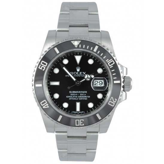 As New Rolex Submariner Stainless Steel Date Black Dial 116610LN