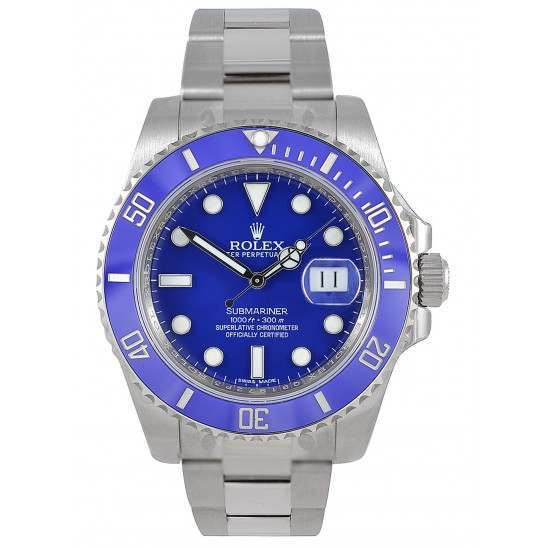 Rolex Submariner 18ct White Gold Blue Dial 116619LB