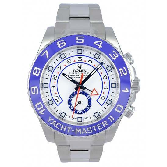 Rolex Yacht-Master II 44mm White/Hour Markers Oyster 116680