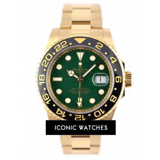 As New Rolex GMT Master II - 116718LN Green Dial main