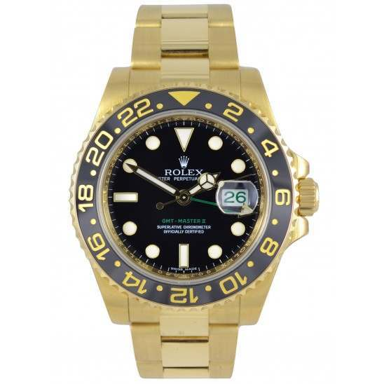 Rolex GMT-Master II 18ct Yellow Gold Black/index 116718LN
