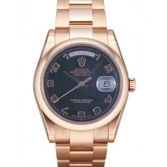Rolex Day-Date Black Arab Oyster 118205