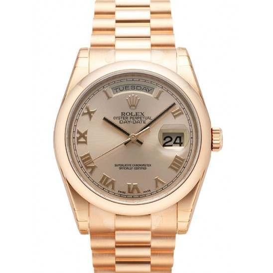 Rolex Day-Date Pink Roman President 118205