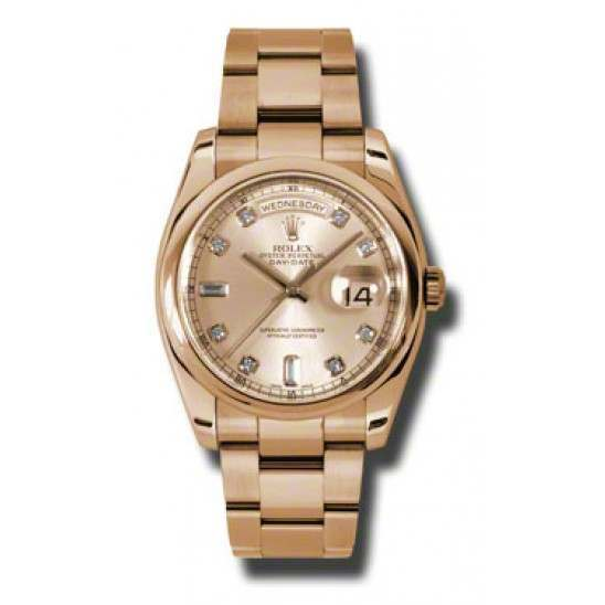Rolex Day-Date Pink/Diamond Oyster 118205