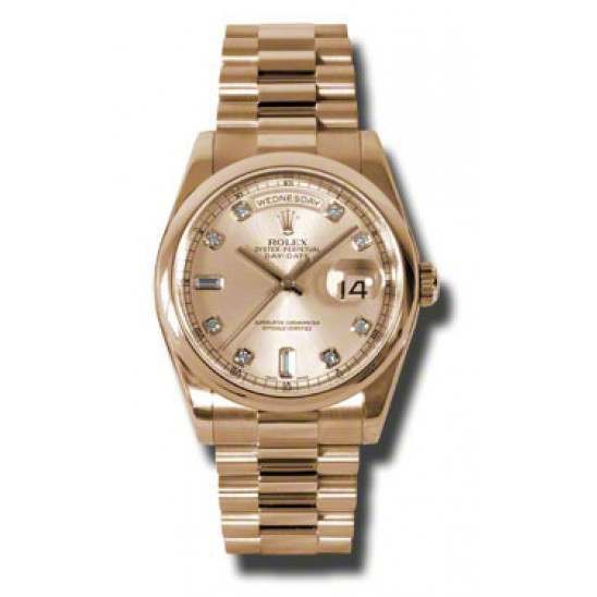 Rolex Day-Date Pink/Diamond President 118205