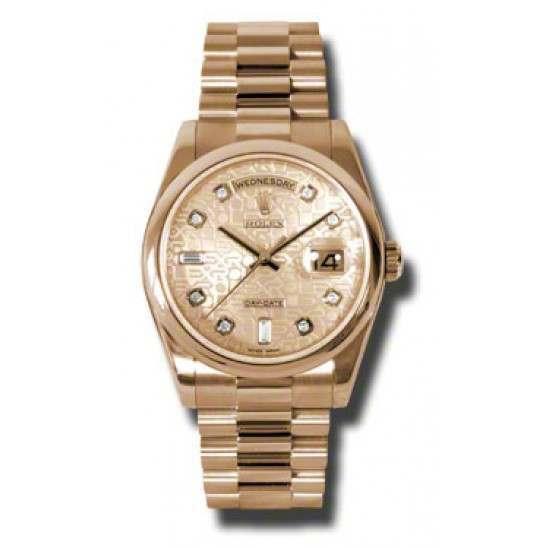 Rolex Day-Date Pink Jub/Diamond President 118205