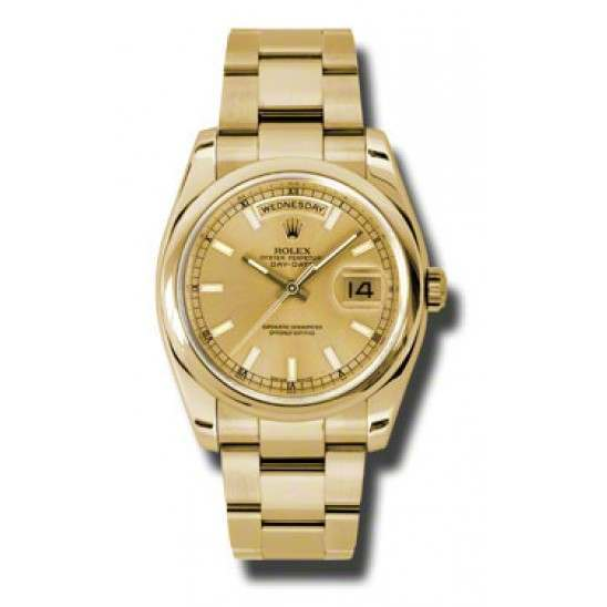Rolex Day-Date Champagne/index Oyster 118208