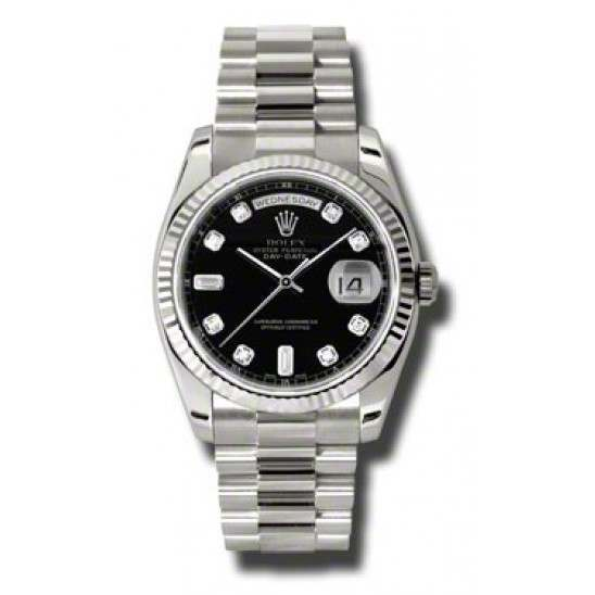 Rolex Day-Date Black/Diamond President 118239