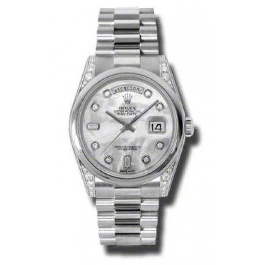 Rolex Day-Date White mop/Diamond President 118296
