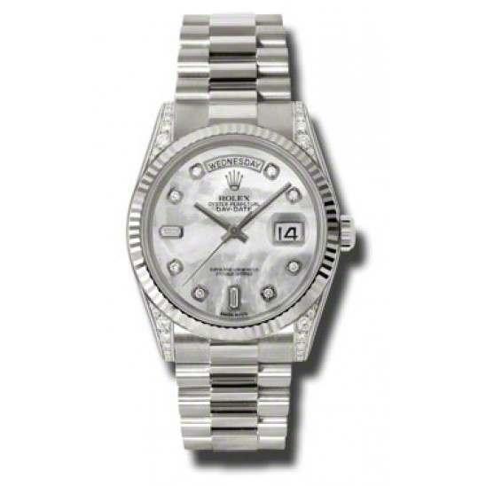 Rolex Day-Date White mop/Diamond President 118339