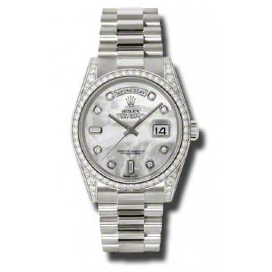 Rolex Day-Date White mop/Diamond President 118389