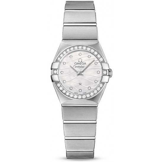 Omega Constellation Brushed Quartz Mini Pluma 123.15.24.60.55.006