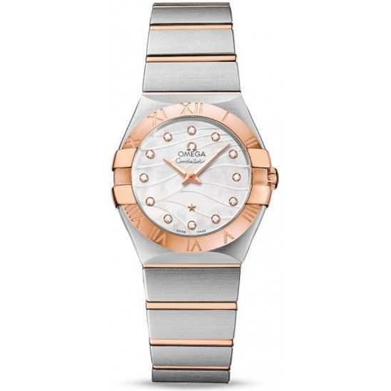 Omega Constellation Brushed Quartz Small Pluma 123.20.27.60.55.006