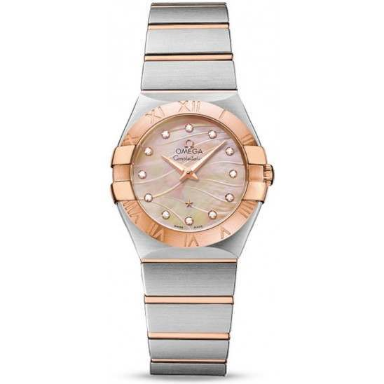 Omega Constellation Brushed Quartz Small Pluma 123.20.27.60.57.002