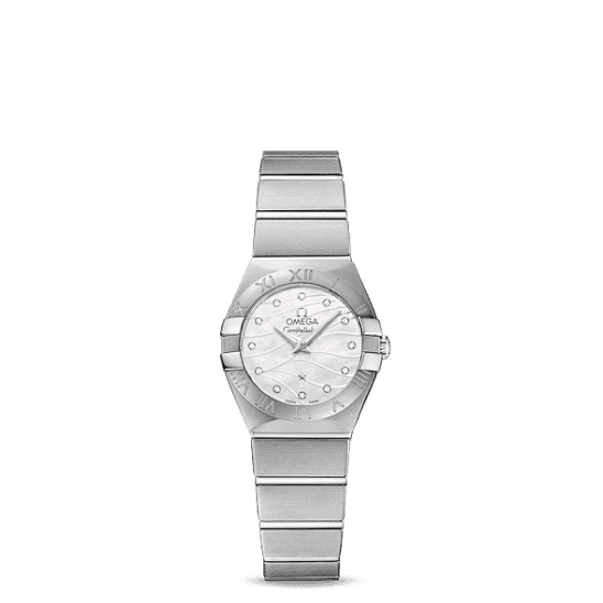 Omega Constellation Brushed Quartz 24mm 123.10.24.60.55.003