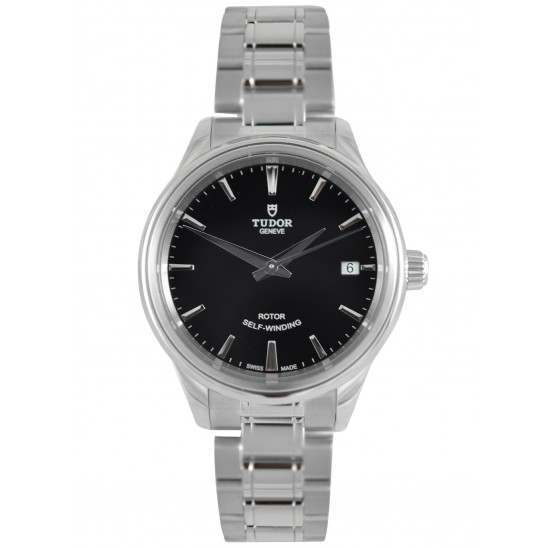 Tudor Style 34mm Steel Black Dial Automatic 12300