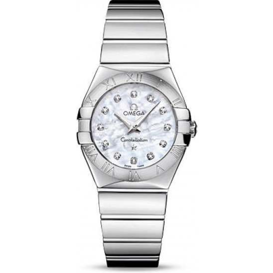 Omega Constellation Polished Quartz Diamonds 123.10.27.60.55.002
