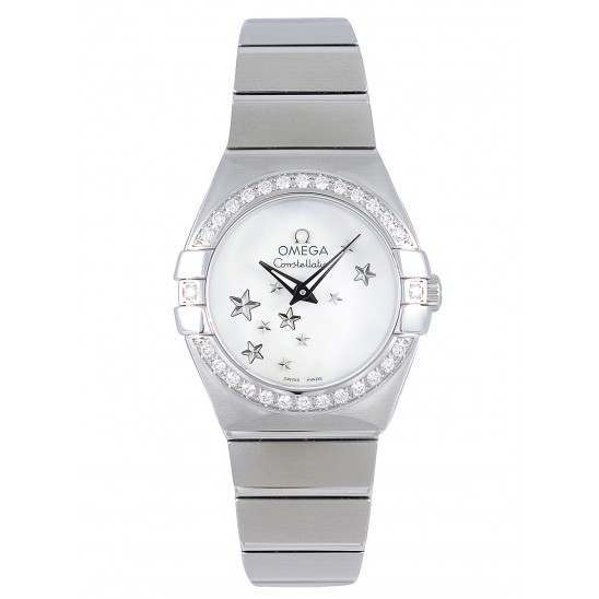 Omega Constellation Brushed Quartz Diamonds 123.15.24.60.05.003