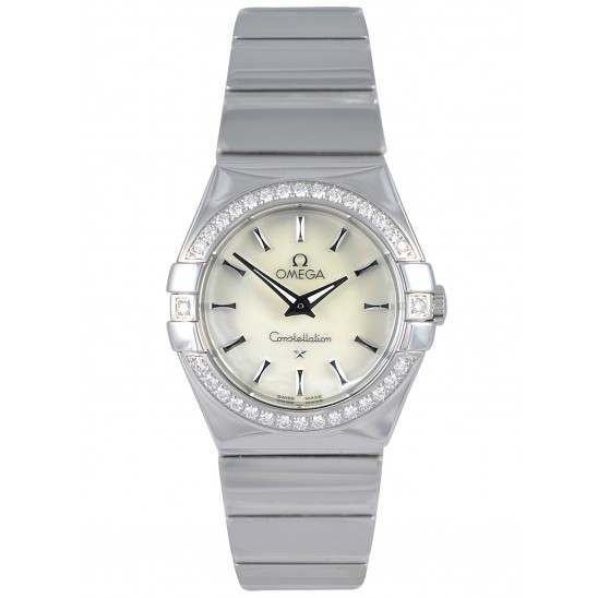 Omega Constellation Polished Quartz Diamonds 123.15.27.60.05.002