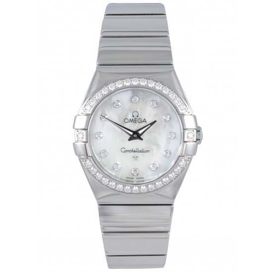 Omega Constellation Polished Quartz Diamonds 123.15.27.60.55.003