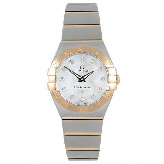 Omega Constellation Brushed Quartz Diamonds 123.20.24.60.55.001