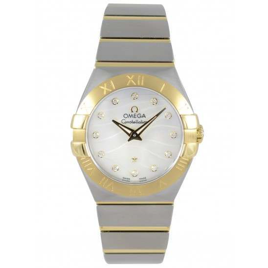 Omega Constellation brushed Quartz Diamonds 123.20.27.60.55.005