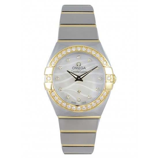 Omega Constellation Brushed Quartz Mini Pluma 123.25.24.60.55.011