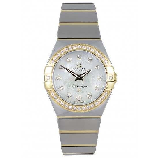 Omega Constellation Brushed Quartz Diamonds 123.25.27.60.55.003