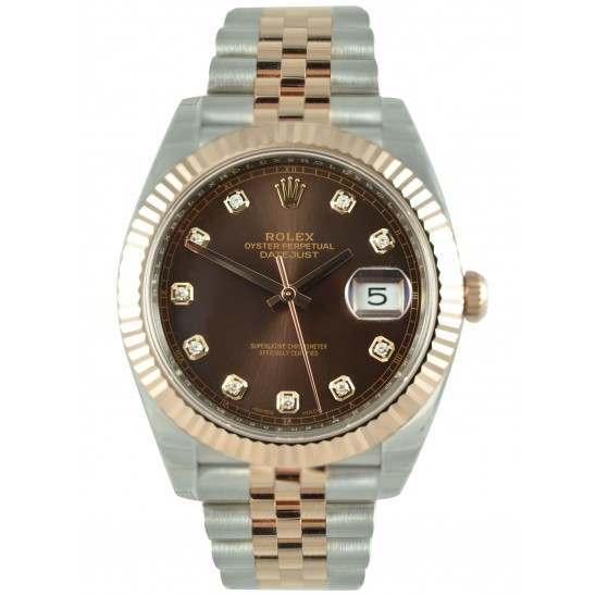 Rolex Datejust 41 Chocolate/Diamond Jubilee 126331