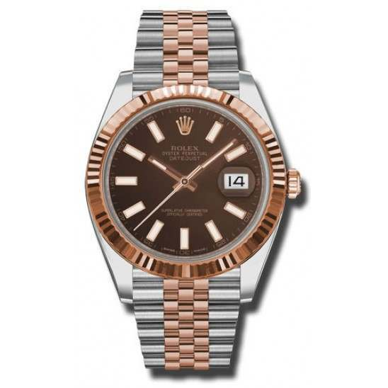 Rolex Datejust 41 Chocolate/index Jubilee 126331