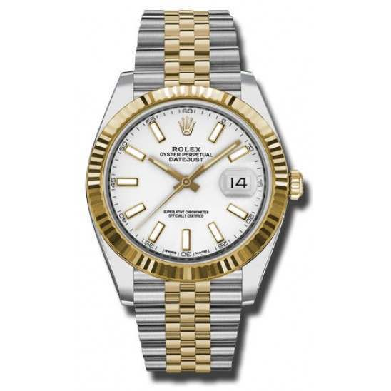 Rolex Datejust 41 Steel and Yellow Gold White/Index Jubilee 126333