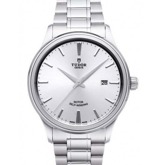 Tudor Style Steel Silver Dial 41mm 12700
