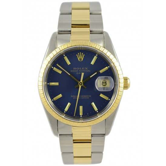 Rolex DateJust Blue Dial Steel & Gold 15233