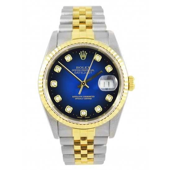 Rolex DateJust 16233 - Blue Diamond Dial