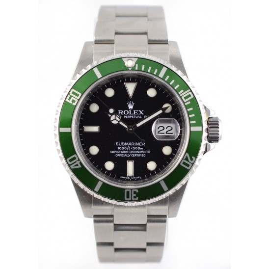 Rolex Submariner 50th Anniversary Preowned Mint  16610V Front