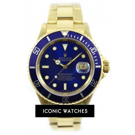 2004 Rolex Submariner 18ct Yellow Gold 16618LB